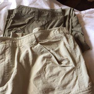 Bundle 2 Columbia Fishing/Camping Pants/ Shorts